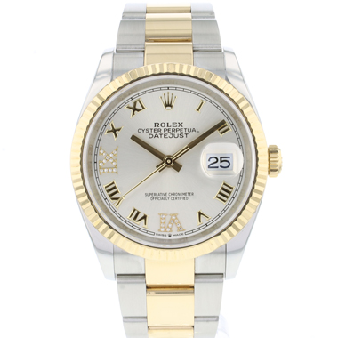 Rolex - Datejust 36 Steel Gold / Fluted /  Diamond  Dial