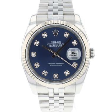 Rolex - Datejust 36 Fluted Jubilee Blue Diamond Dial