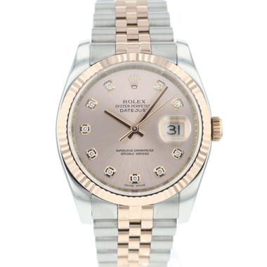 Rolex - Datejust 36 Steel / Everose Pink Diamond Dial