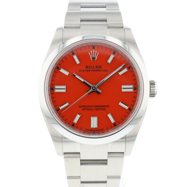 Rolex - Oyster Perpetual 36 Coral Red Dial 126000 NEW