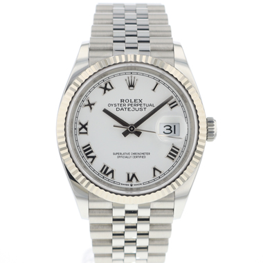 Rolex - Datejust 36 Jubilee/Fluted White Dial