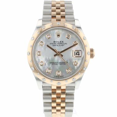 Rolex - Datejust 31 Midsize Steel Everose Gold Diamonds MOP 99% New!