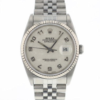 Rolex - Datejust 36 Fluted jubilee Logo Dial