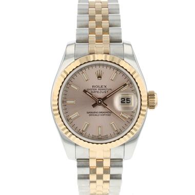 Rolex - Datejust Lady 26 Steel Everose Gold Fluted Jubilee