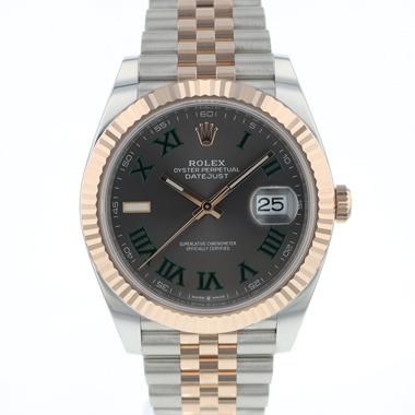 Rolex - Datejust 41 Steel / Everose Gold Wimbledon Jubilee NEW