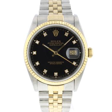 Rolex - Datejust 36 Jubilee Gold/Steel Jubilee Black Diamond dial