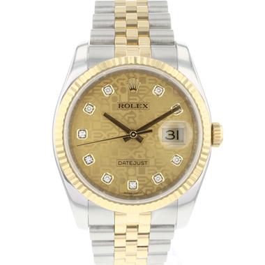 Rolex - Datejust 36 Steel/Gold Jubilee Logo Diamond Dial