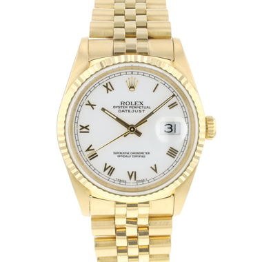 Rolex - Datejust 36 Yellow Gold Jubilee White Roman Dial