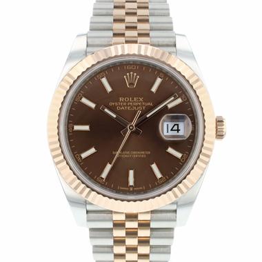 Rolex - Datejust 41 Steel / Everose Gold Choco Dial 2021 99,9 % NEW