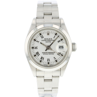 Rolex - Oyster perpetual Lady Date White Roman Dial