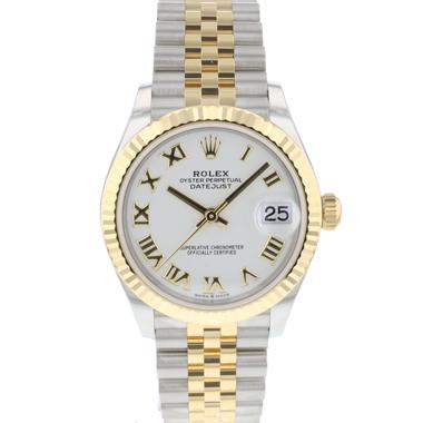 Rolex - Datejust 31 Steel Gold / Jubilee / White Roman Dial NEW