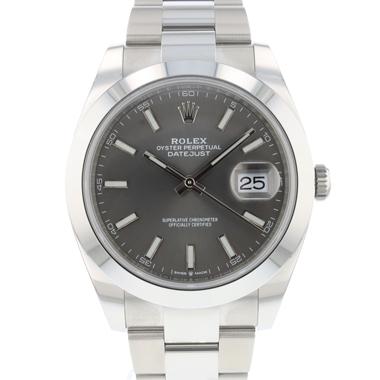 Rolex - Datejust 41 Oyster Dark Rhodium Dial NEW