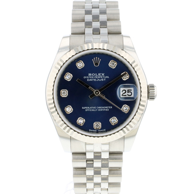 Rolex - Datejust 31 Midsize Jubilee Blue Diamond Dial