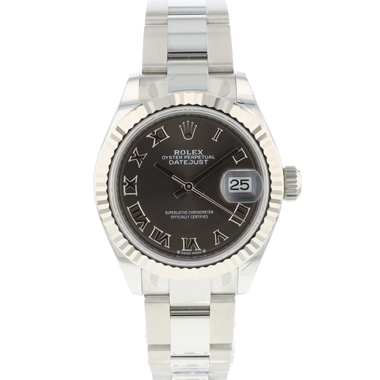 Rolex - Lady-Datejust 28 Lady  Fluted Grey Roman Dial NEW In Stickers