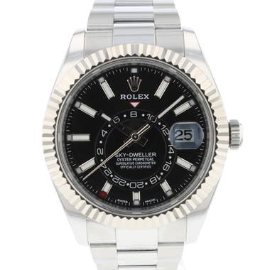Rolex - Sky-Dweller Stainless Steel / White Gold / Black Dial