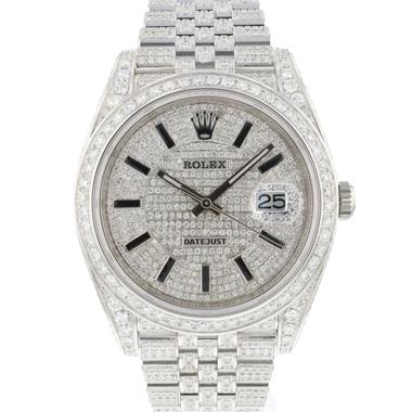 Rolex - Datejust 41 Jubilee Diamonds Full Iced NEW
