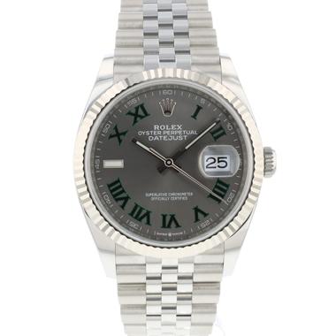 Rolex - Datejust 36 Fluted Jubilee Wimbledon Dial 126234 NEW