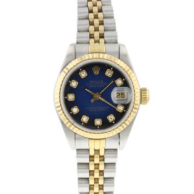 Rolex - Datejust 26 Gold/Steel Blue Diamond Dial