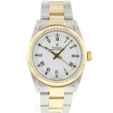 Rolex - Oyster perpetual 31 Midsize Gold/Steel White Dial