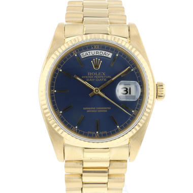 Rolex - Day-Date 36 President Yellow Gold Blue Dial