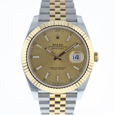 Rolex - Datejust 41 Gold/Steel Fluted Jubilee Champagne Dial NEW