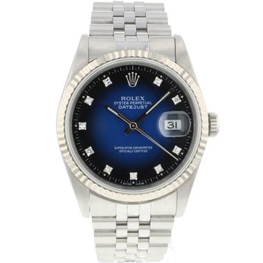 Rolex - Datejust 36 Jubilee Fluted Blue Vignette Diamond Dial