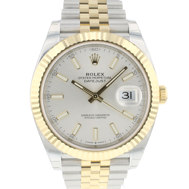Rolex - Datejust 41 Gold/Steel Fluted Jubilee Silver Dial NEW IN STICKERS