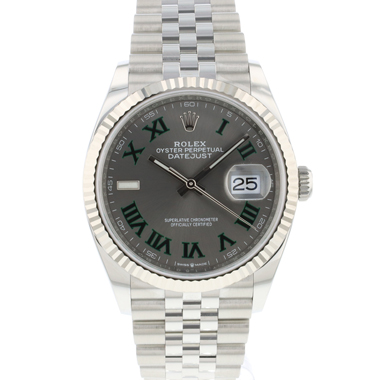 Rolex - Datejust 36 Fluted Jubilee Wimbledon Dial