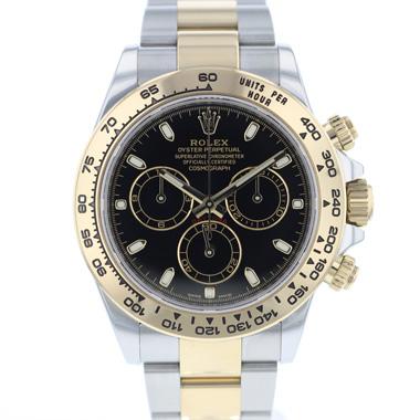 Rolex - Daytona Gold/Steel Black Dial