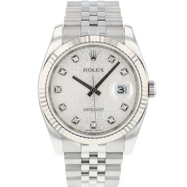 Rolex - Datejust 36 Jubilee/Fluted Diamond Logo Dial