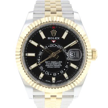 Rolex - Sky-Dweller Steel/Gold Jubilee Black Dial NEW
