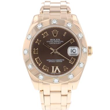 Rolex - Datejust Pearlmaster Everose Gold Choco Diamonds