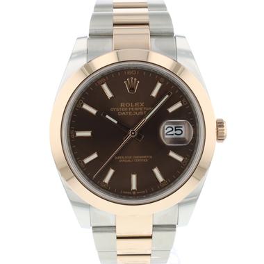 Rolex - Datejust 41 Steel / Everose Gold Choco Dial