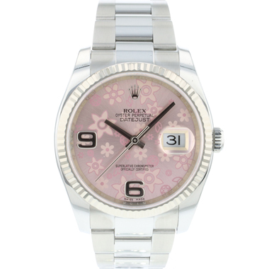 Rolex - Datejust 36 Fluted Pink Flower Dial