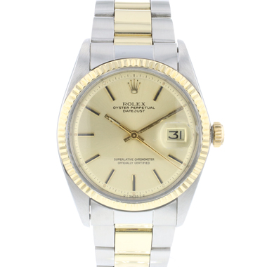 Rolex - Datejust 36 Oyster Fluted Gold/Steel Sigma Dial