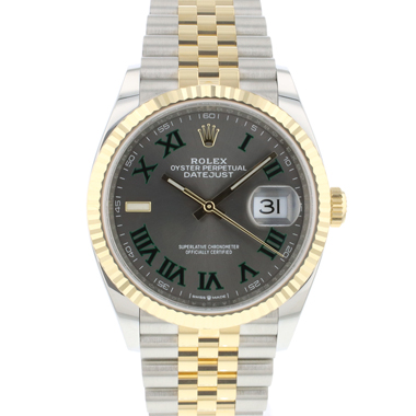 Rolex - Datejust 36 Steel / Gold Jubilee Fluted Wimbledon NEW