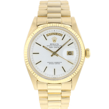 Rolex - Day-Date 36 President Yellow Gold White Dial