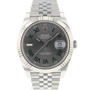 Rolex - Datejust 41 Fluted Jubilee Wimbledon Dial NEW