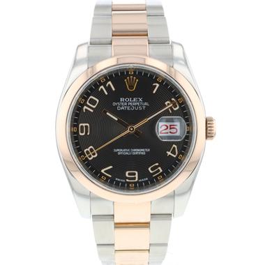 Rolex - Datejust 36 Steel Everose Gold Black Concentric Dial