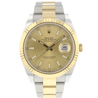 Rolex - Datejust 41 Gold/Steel Fluted Champagne Dial