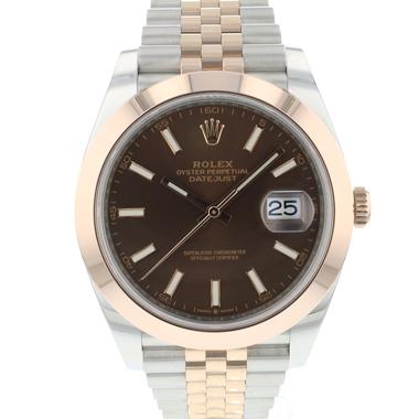 Rolex - Datejust 41 Steel / Everose Gold Jubilee Choco Dial NEW