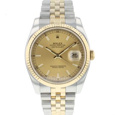Rolex - Datejust 36 Steel Gold / Fluted / Jubilee