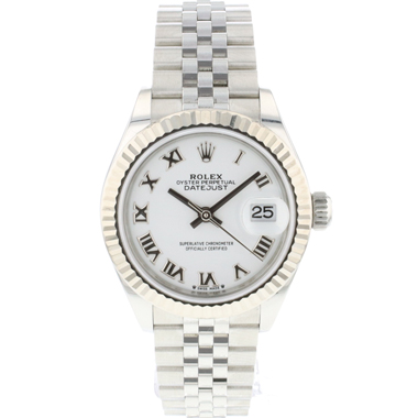 Rolex - Lady-Datejust 28 Lady Jubilee White Roman Dial