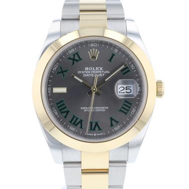 Rolex - Datejust 41 Gold/Steel Wimbledon 99,9% NEW