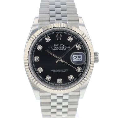 Rolex - Datejust 36 Fluted Jubilee Black Diamond  Dial NEW!!