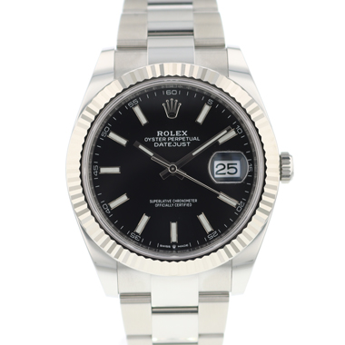 Rolex - Datejust 41 Fluted Black Dial NEW