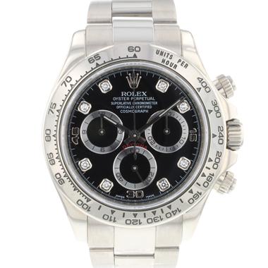 Rolex - Daytona White Gold Black Diamond Dial